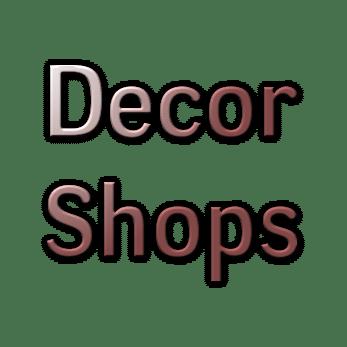 Decor Shops, Furniture, Wall Art, Lighting, Interior Decorating